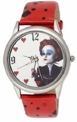 Alice in Wonderland Women's AL1011 Red Queen Mirror Dial Red Leather Strap Watch $14.99 thestylecure.com