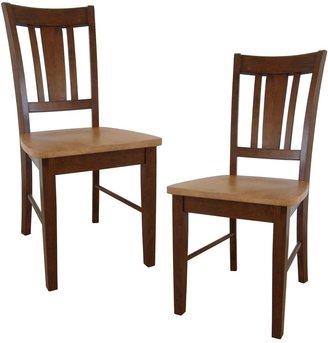 International Concepts 2-pc. San Remo Splat-Back Dining Chair Set