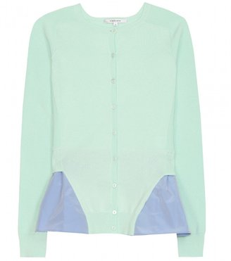 Carven CARDIGAN WITH PEPLUM DETAIL