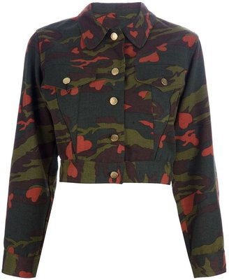 Jean Paul Gaultier Vintage cropped camouflage jacket