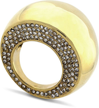 Vince Camuto Ring, Gold Tone Pave Dome Cocktail Ring