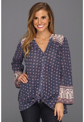 Billabong Dreamin Big Blouse (Blue Indigo) - Apparel