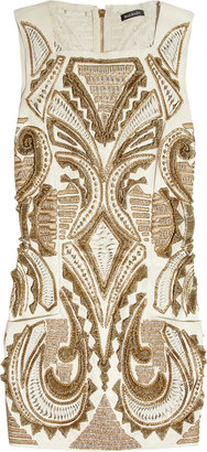 Balmain Hand-embroidered leather dress