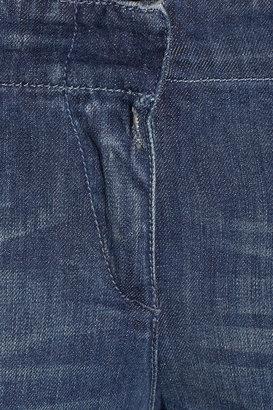 R 13 Moto low-rise skinny jeans