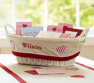Pottery Barn Kids Valentine's Day Treat Basket Liner