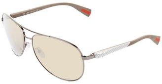 Prada Linea Rossa PS 51OS (Silver/Grey Gradient Lens) - Eyewear