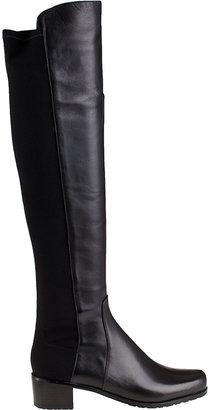Stuart Weitzman Reserve Over-the-Knee Boot Black Leather