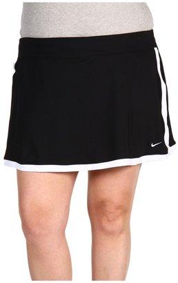 Nike Extended Size Border Tennis Skort (Black/White/White) - Apparel