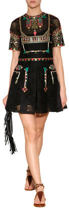 Valentino Embroidered Playsuit