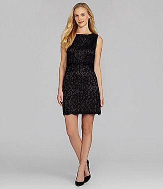 Suzi Chin Sleeveless Lace Dress