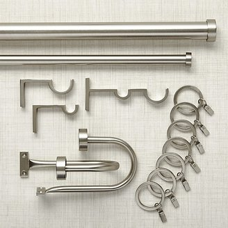Crate & Barrel Matte Nickel Curtain Hardware