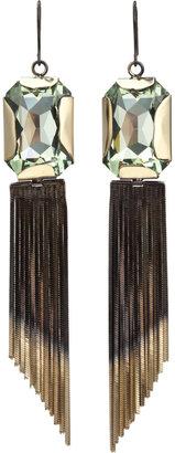 Iosselliani Green Stone & Fringe Earrings