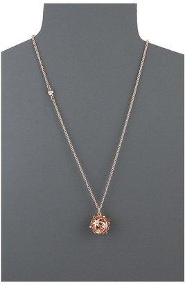 GUESS Cutout Flower Ball Pendant Necklace