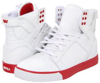 Supra Skytop (White Action Leather/Red) - Footwear