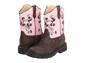 Roper Western Dazzle Lights (Toddler/Little Kid) (Brown) Cowboy Boots
