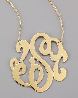 Jennifer Zeuner Jewelry Swirly Initial Necklace, S