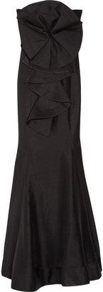 Rachel Gilbert Helena strapless silk gown