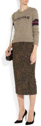 Rochas Floral-brocade skirt