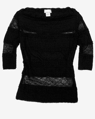 Miguelina Exclusive Tiered 3/4 Sleeve Lace Top