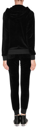 Juicy Couture Velour Modern Track Slim Pants in Black