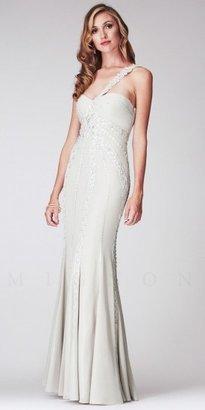 Mignon Floral Lace One shoulder Long Mermaid Dresses