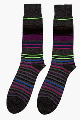 Paul Smith charcoal striped socks