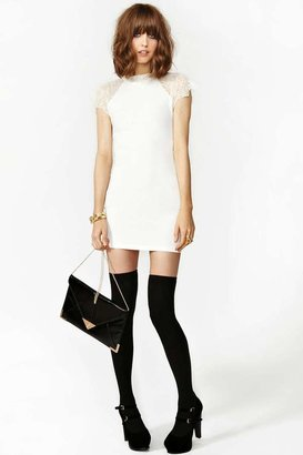 Nasty Gal Jagged Lace Dress