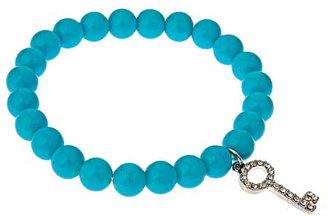 Blu Bijoux Turquoise Key Charm Bracelet