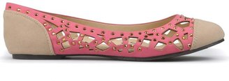 Journee Collection Eileen Studded Flats - Women