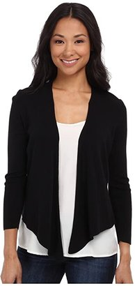 Nic+Zoe Petite 4-Way Cardy (Black Onyx) Women's Sweater