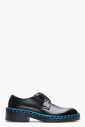 Raf Simons Black Leather Chain-Embellished Derbys