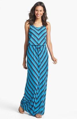 Caslon Mitered Stripe Maxi Dress