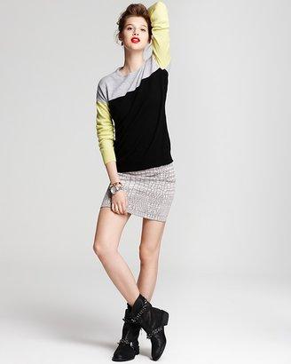 Aqua Cashmere Sweater - Color Block Crewneck