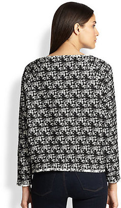 Alice + Olivia Search Results, Mayer Raglan Tweed Pullover