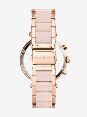 Michael Kors Parker Rose Gold-Tone Blush Acetate Watch