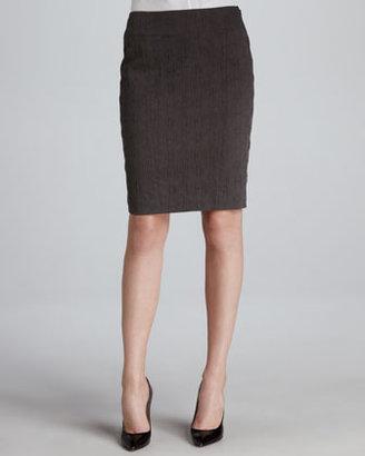 T Tahari Aurelia Textured Pencil Skirt