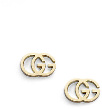 Gucci 18K Yellow Gold Double G Earrings