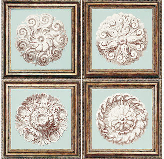Rooms To Go Rosettes - Set of 4 Framed Prints