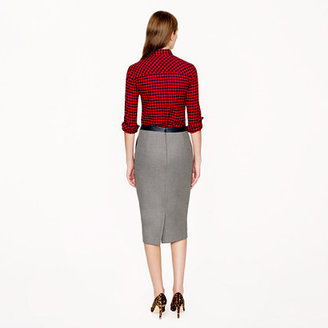J.Crew Collection No. 2 pencil skirt in leather-tipped double-serge wool