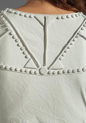 Catherine Malandrino Embellished Cropped Leather Jacket