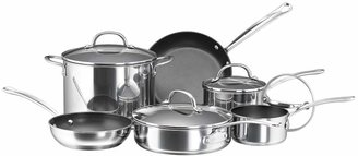 Farberware 10-pc. Nonstick Stainless Steel Cookware Set