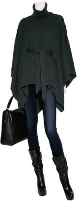 Ralph Lauren Black Label Evergreen Cashmere Cable Poncho