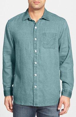 Men's Tommy Bahama 'Sea Glass Breezer' Original Fit Linen Shirt $98 thestylecure.com