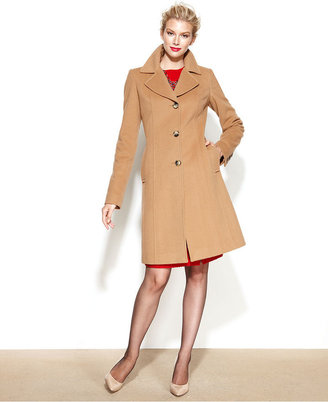Anne Klein Wool-Cashmere-Blend Walker Coat