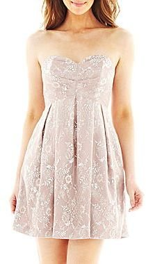 JCPenney Strapless Lace Dress