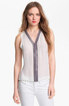 Parker 'Nahla' Embellished Silk Top
