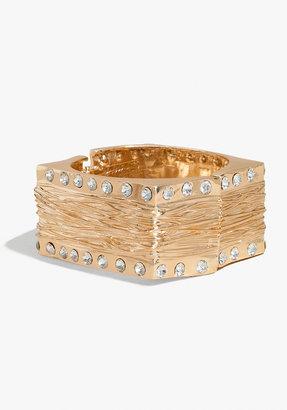 Bebe Stone Hammered Square Bracelet