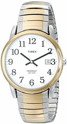 Timex Men's T2H311 Easy Reader 35mm Stainless Steel Expansion Band Watch