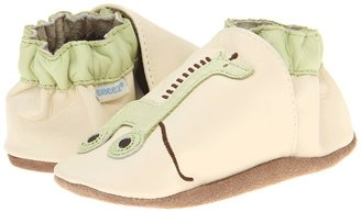 Robeez Giraffe Pull Toy Soft Soles (Infant/Toddler) (Natural) - Footwear