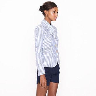 J.Crew Classic schoolboy blazer in stripe linen